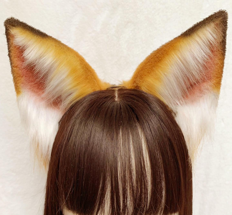 MMGG New Original Handmade Fox Ear Hairhoop Beast Cat Lovely Headwear Custom Made