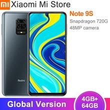 Versão global xiaomi redmi nota 9 s 4gb 64gb smartphone snapdragon 720g octa núcleo 48mp ai quad câmera 5020mah 6.67
