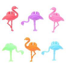 12 шт. силиконовый маркер на стакан для вина Креативный дизайн Фламинго напиток талисманы этикетка маркировка стекло идентификация идеально подходит для вечерние и свадебные