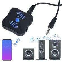 2 ב 1 Bluetooth 4.2 מקלט משדר Bluetooth אלחוטי מתאם אודיו עם 3.5MM AUX אודיו עבור בית טלוויזיה MP3 מחשב
