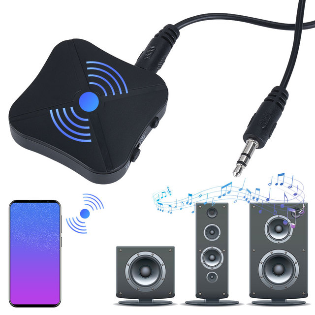 2 IN 1 Bluetooth 4.2 Receiver Transmitter Bluetooth Wireless Adapter Audio With 3.5MM AUX Audio For Home TV MP3 PC