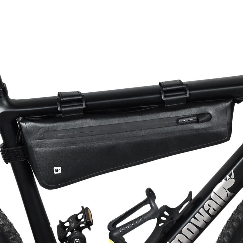 Bicycle Top Tube Bags Waterproof Bike Tool Bag Mountain Bike Road Bicycle Hook and loop fasteners Portable Cycling Sports Bag|Bicycle Bags & Panniers| |  - title=