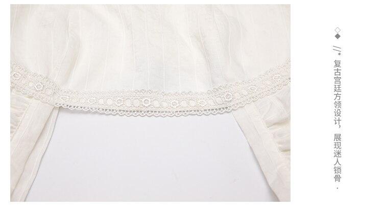 Vestido suspenso com cintura francesa, vestido branco de algodão 2020 para verão