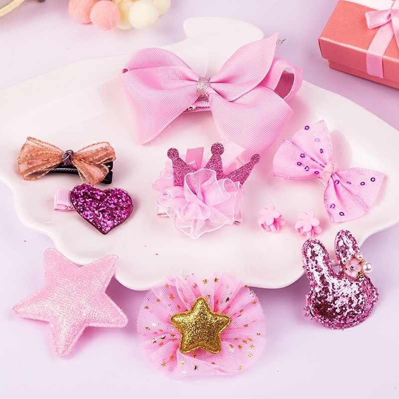 10pc בארה 'ב סט צעצועי עבור בנות ילדי אביזרי סרט קשת שיער קליפ סיכות ילדה נסיכת Hairdress יופי & אופנה צעצוע
