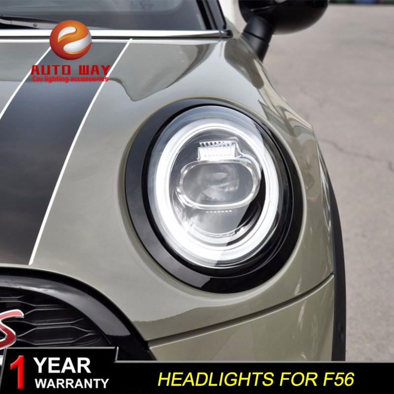 Étui de style de voiture pour Mini F56 2013-2018 cooper phares pour F56 tous LED phare Angel eye LED DRL avant lumière bi-LED