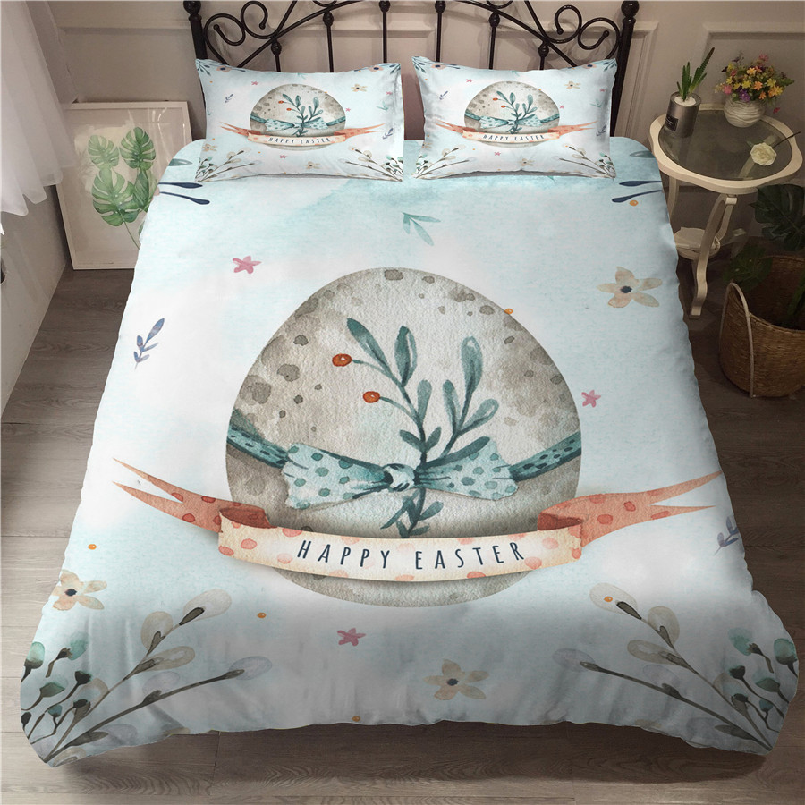 A Bedding Set 3D Printed Duvet Cover Bed Set Easter Day Home Textiles For Adults Bedclothes With Pillowcase #FHJ02