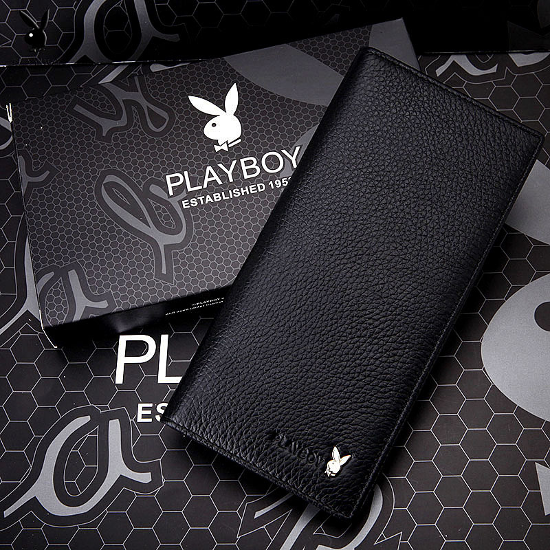 Shoppe Genuine Product PLAYBOY MEN'S Wallet Cowhide Two Fold Genuine Leather Wallet Fashion Wallet Men's