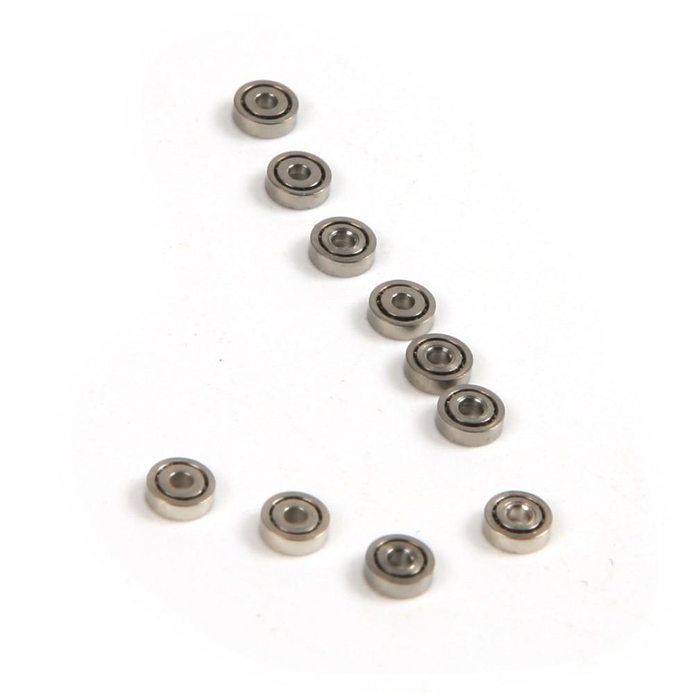 Ev Dekorasyonu'ten Rulmanlar'de 10 adet 681ZZ (1x3x1mm) minyatür rulmanlar topu Mini rulman title=