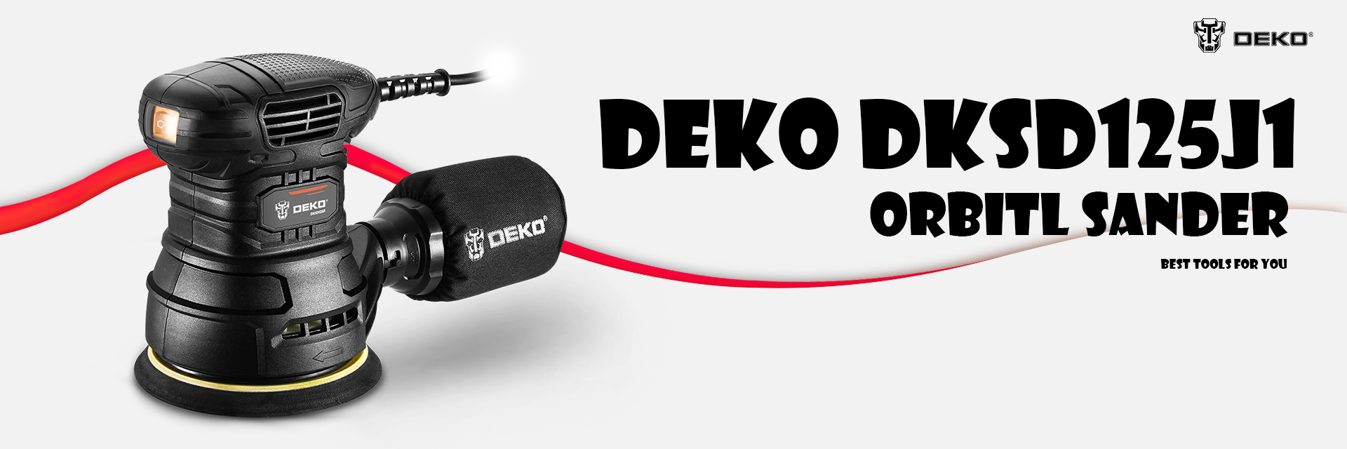 DEKO DKSD125J1 350W Random Orbit Sander
