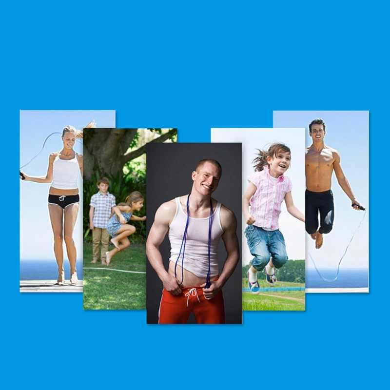 Indoor-Training Exerciser Skipping Seile Weavon Seil Springen Seile Einstellbare Schnelle Geschwindigkeit Griff Für Gym Fitness PL