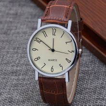 Watch Male Colorful Blue Light Glass Belt Man Wrist Watch