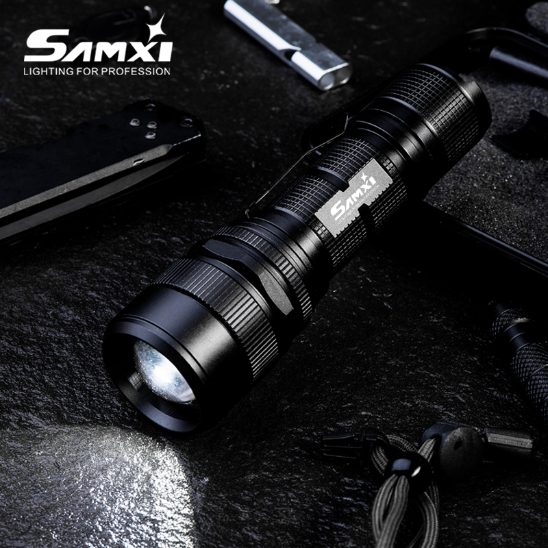 Samxi High Power Rechargeable LED Flashlight XHP70.2 Tactical Flashlight With 26650 Battery LED Lantern For Camping Riding