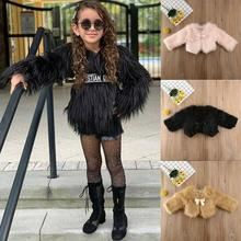 Kid Baby Girl Toddler Fur Coat Winter Warm Outerwear Thick Jacket Cotton Clothes jkp2018 new winter children s fur jacket baby girl and boy big raccoon fur collar cotton outerwear fashion thick baby coat ct 22