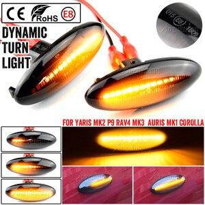 Image 1 - A Pair LED Car Dynamic Side Marker Signal Lamp Turn Signal Light Blinker Light For Toyota Yaris COROLLA Auris Mk1 E15 RAV4 Mk3