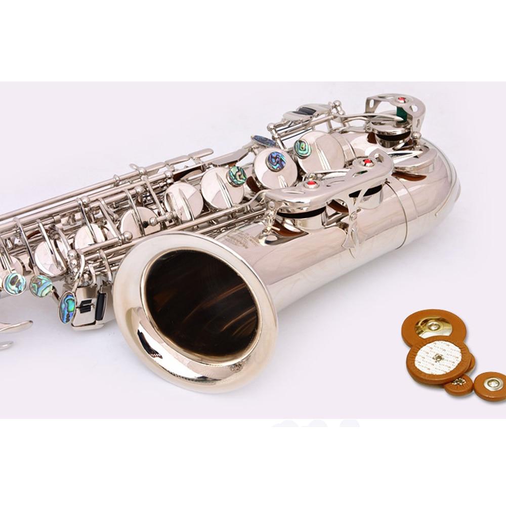 E плоский альт саксофон альт саксофон Никель покрытая серебром Музыкальные инструменты Одежда высшего качества экономически эффективным ... - 5