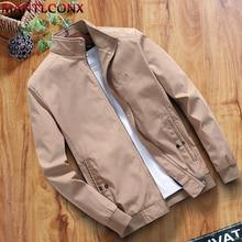 MANTLCONX New Autumn Winter Cotton Jacket Men's Casual Wear Jacket Stand Collar Zipper Jacket Coats Male Outerwear Brand Coats