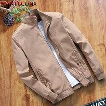MANTLCONX yeni sonbahar kış pamuklu ceket erkek gündelik giyim ceket standı yaka fermuarlı ceket mont erkek giyim marka mont