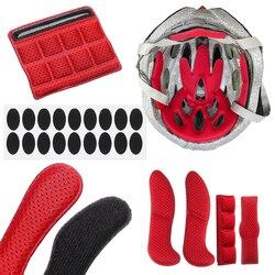 N//A//a Almohadillas de Casco Universal con Mosaico Bloque de Red Repuesto de Malla Relleno de Espuma Kit Casco de Bicicleta Protector Lavable Forro de la