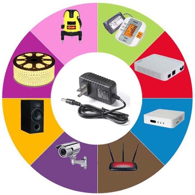 адаптер переменного тока 110 240 в постоянного 6 в 9 12 15 1a фотография