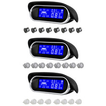 12V Radar samochodowy cyfrowe czujniki parkowania LED Parktronic wyświetlacz LCD kamera cofania System detektora radaru monitorującego z 8 czujnikami