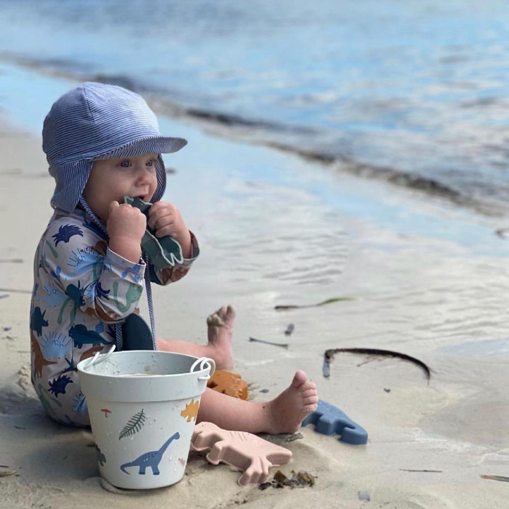 Детские пляжные игрушки, набор из 6 предметов, детский летний песочный инструмент для копания с лопатой, водная игра, набор уличных игрушек, ...