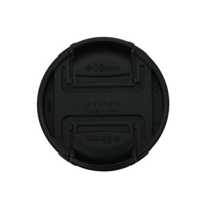 Image 2 - 30pcs/lot High quality 49 52 55 58 62 67 72 77 82mm center pinch Snap on cap cover for canon camera Lens