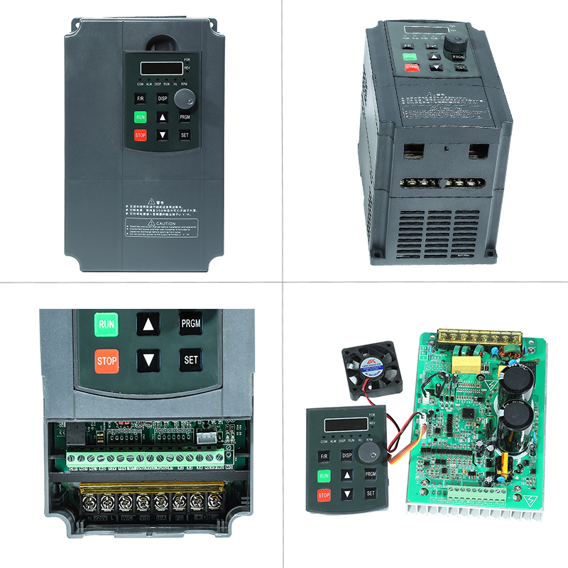 Image 4 - 2.2KW 220V VFD Inverter 3KW 4KW 5.5KW 7.5KW Frequency Inverter Converter 1P input 3P Output 220V For CNC Spindle motor-in Inverters & Converters from Home Improvement