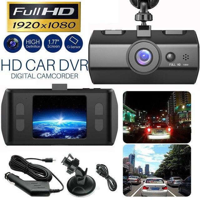 Dash Cam Dual Lens Full HD 1080P 1.7 IPS Car DVR Vehicle Camera Front+Rear Night Vision Video Recorder G sensor Parking Mode WDR