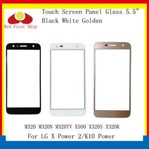 Tela Sensível Ao Toque Para LG pçs/lote 10 X Poder 2 M320 M320N M320TV X500 X320S K10 Poder Painel de Toque LCD Lente de Vidro Exterior Frente X Power 2