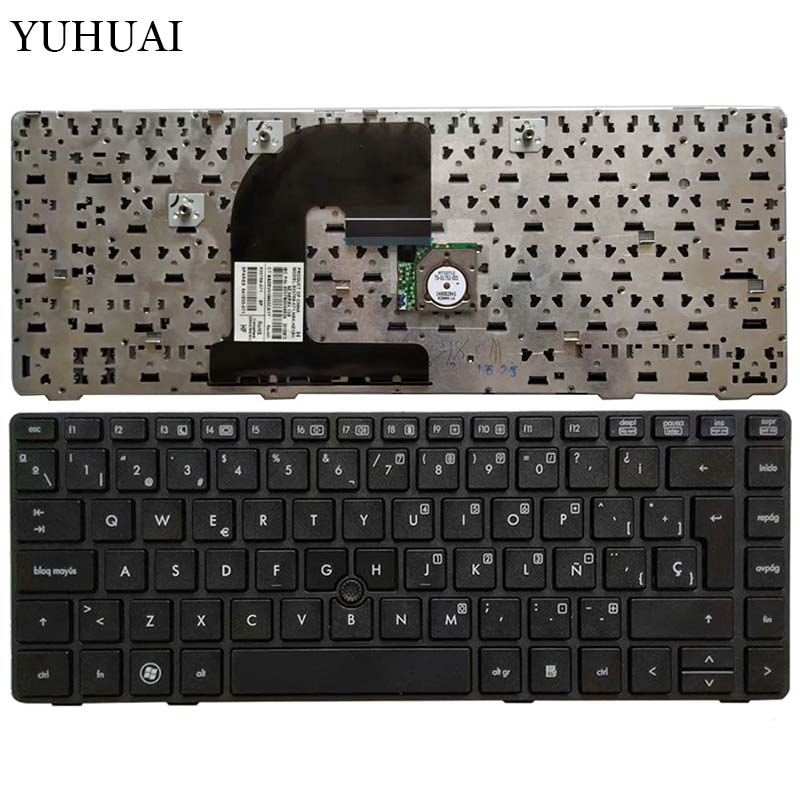 NEW Latin laptop <font><b>Keyboard</b></font> For <font><b>HP</b></font> <font><b>EliteBook</b></font> 8470B 8470P 8470 8460 <font><b>8460p</b></font> 8460w ProBook 6460 6460b 6470 with frame/Point Stick image