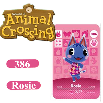 Animal Crossing Card Amiibo 386 Rosie 264 Marshal NFC Card For Nintendo Switch NS Games Series 1 2 3 4