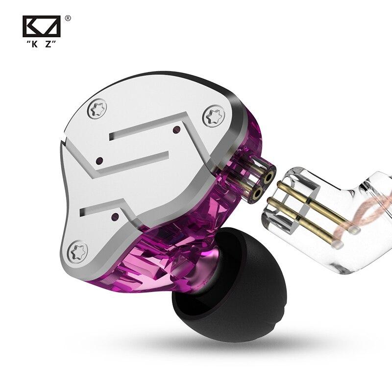 Оригинальный Новый KZ ZSN красочные BA + DD наушники гибридные наушники HIFI бас шум наушники заменены кабель для iPhone музыка
