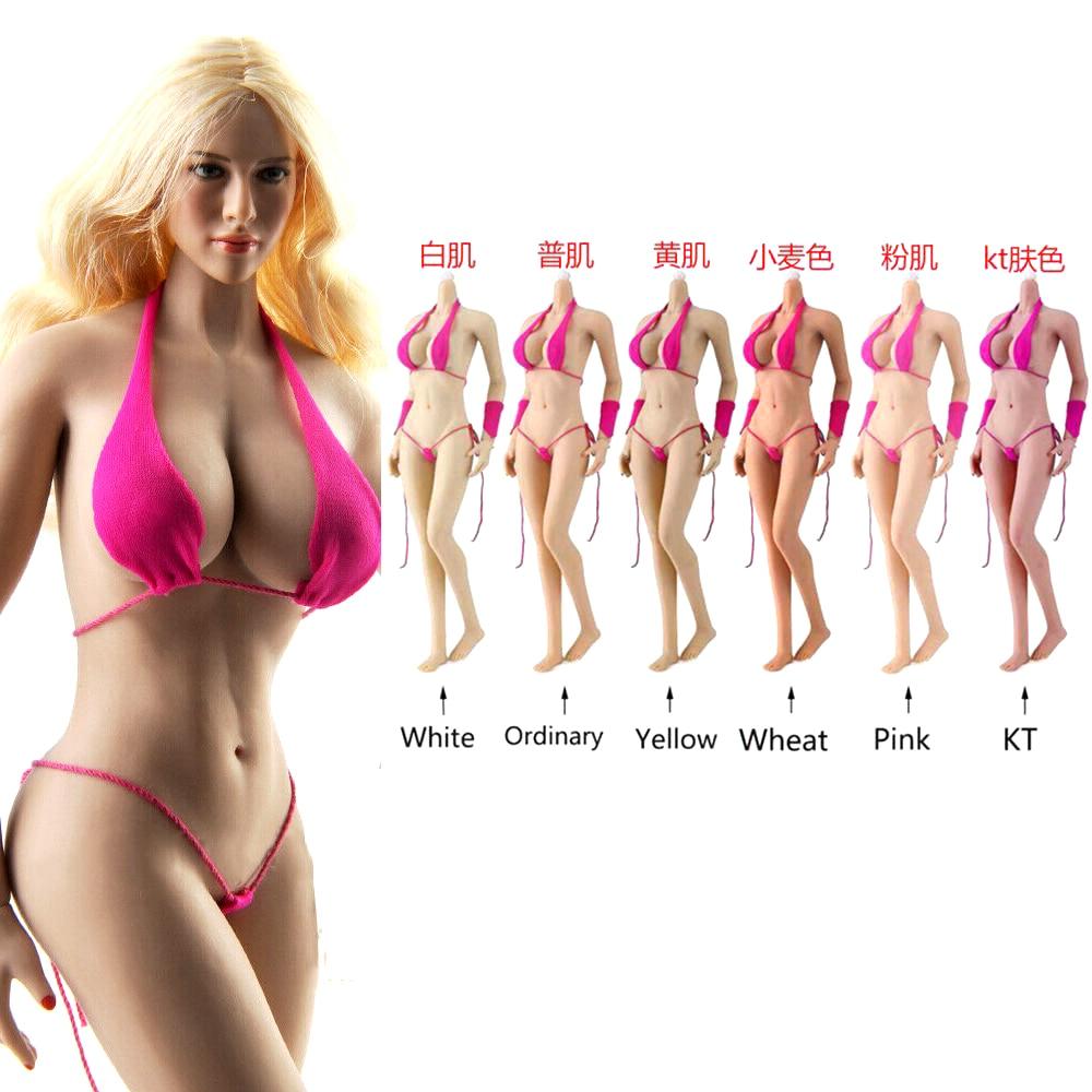 "1//6 Female White Short Dress F 12/"" Phicen JIAOU DOLL Pale Big Bust Hot Figures"