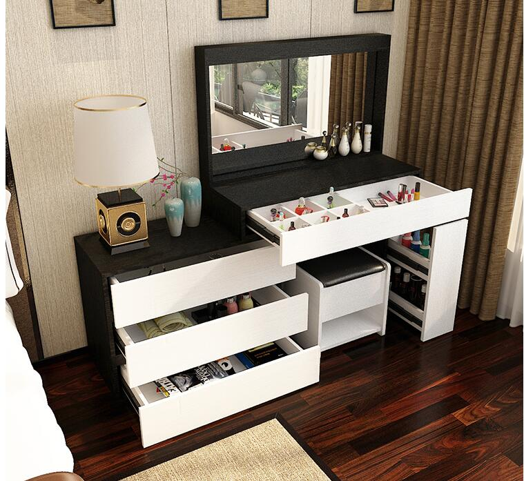Dressing Table Bedroom Storage Cabinet Integrated Simple Modern Economical Assembly Net Red Makeup Table Ins Style Dressing Tabl