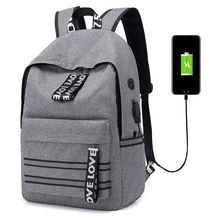 Оксфордский рюкзак с usb зарядкой для отдыха путешествий мужчин