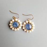 Lily Jewelry Kyanite Freshwater Pearl Vintage Style Drop Earrings 925 Sterling Silver Handmade Delicate Jewelry For Women Gift