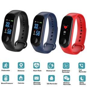 Image 2 - M3 Pro Smart Watch Sport Smart Band Blood Pressure Monitor Smart Wristband Smartwatch Bracelet M3Plus Wristband for Men Women