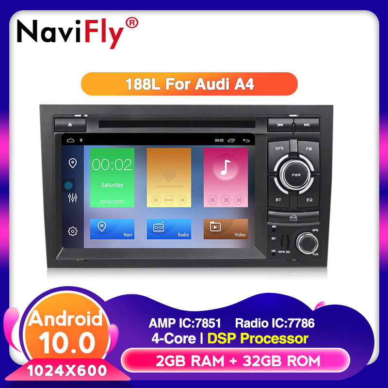 Android10 RDS DSP 32G ROM 2G RAM 2din Car <font><b>Multimedia</b></font> player For <font><b>Audi</b></font> <font><b>A4</b></font> <font><b>B6</b></font> B7 S4 B7 <font><b>B6</b></font> RS4 B7 SEAT Exeo car dvd player radio image