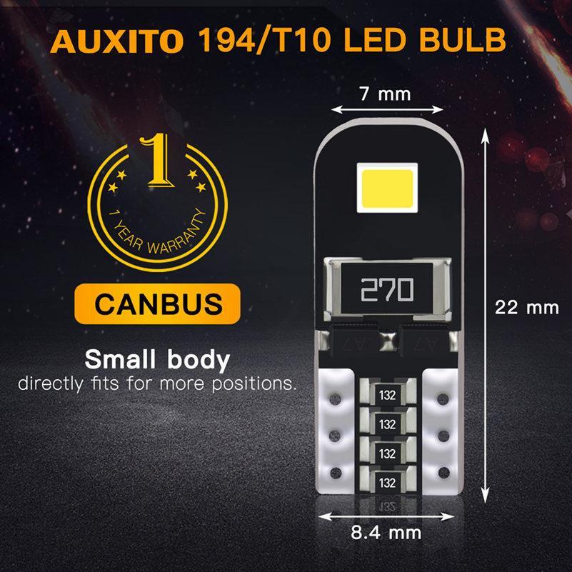 Hdcec9911cffa4c1d954720c5752869e4u 10Pcs W5W T10 LED Canbus Light Bulbs for Audi BMW VW Mercedes Car Interior Dome Light Trunk Lamp Parking Lights Error Free 12V