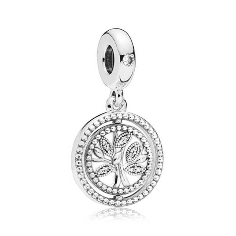 Couqcy 2020 Baru Cinta Hati Merah Muda Bintang Bunga Warna Silver Pesona Fit Pandora Gelang Hermione Granger Pesona DIY Membuat Perhiasan