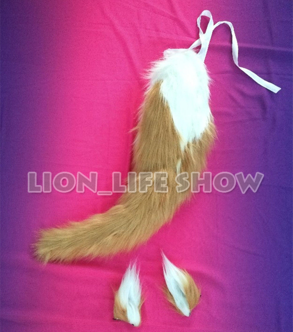FGO Tamamo no Mae Fox Plush Ears Tails Cosplay Props Cosplay Costume Acc Lot