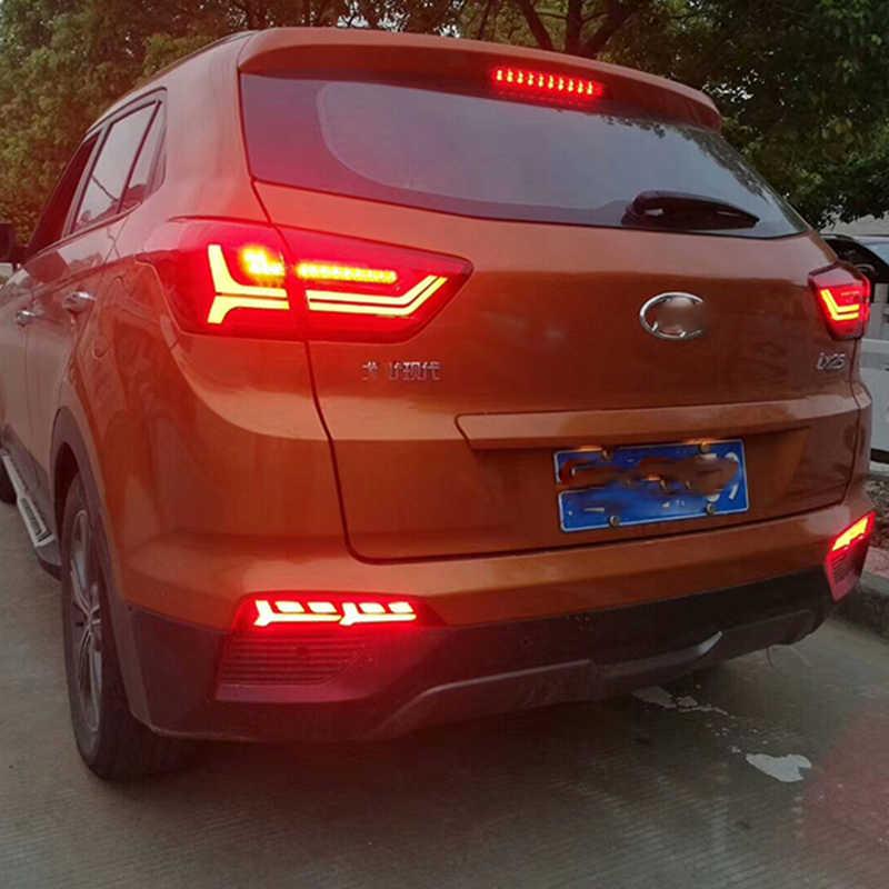2 adet Hyundai creta ix25 2014 2015 2016 2017 LED DRL arka tampon kuyruk işık sis lambası fren lambaları dönüş sinyal lambası
