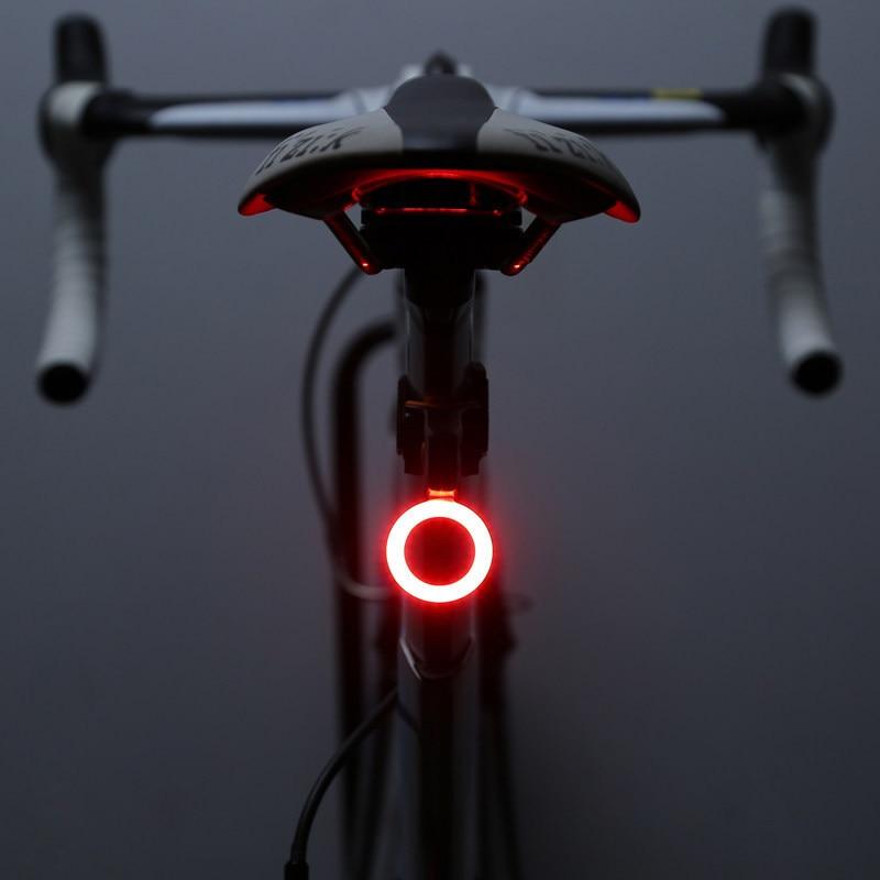 Multi Modes d'éclairage vélo lumière USB Charge Led vélo lumière Flash queue arrière vélo lumières pour montagne vélo tige de selle