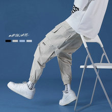 Harem Pants Overalls Pockets Black Male Mens Fashions Hip-Hop 5XL New