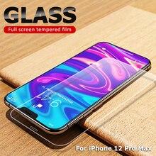 2.5D 9H 화면 보호기 강화 유리 아이폰 6 6S 5S 7 8 11 프로 12 XR XS 최대 강화 유리 아이폰 7 6 6S Flim 유리