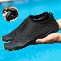 Мужская акваобувь, Уличная обувь для бисероплетения, быстросохнущая пляжная обувь, дышащая обувь для любителей плавания, акваобувь для йог...