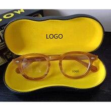 אופטי משקפיים מסגרת גברים נשים ג וני דפ מקוטב משקפי שמש למעלה איכות מותג אצטט משקפיים מסגרת עם תיבת 03