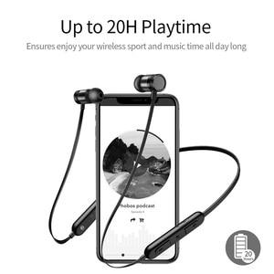 Image 3 - Picun S9 Sport Bluetooth Kopfhörer 5,0 Sweatproof Neckband Drahtlose Kopfhörer mit Mikrofon HiFi Bass Stereo Headset Ohrhörer