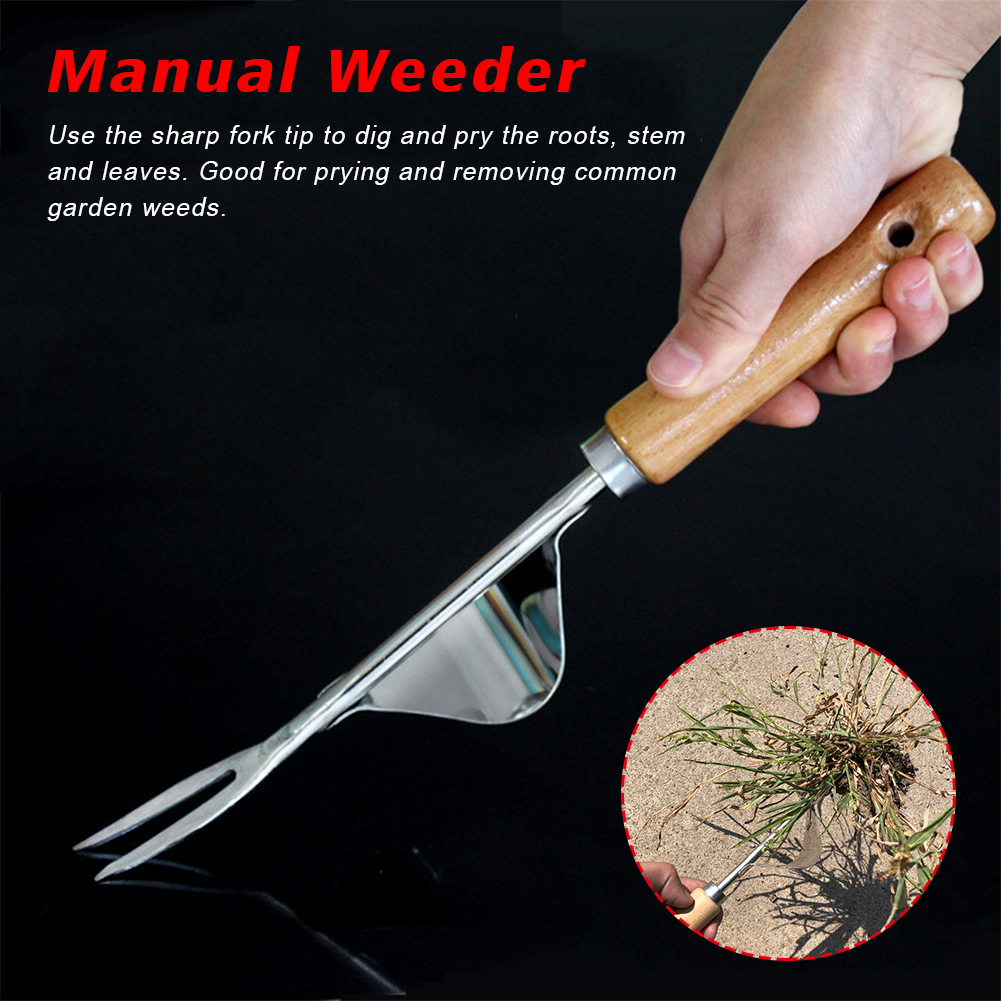 Farmland Puller Portable Digging Tool Stainless Steel Manual Weeder Lawn Non Slip Outdoor Garden Courtyard Removal Ripping