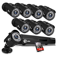 XVIM 8CH 1080P Security Camera System Outdoor with 1TB Hard Drive Pre Install CCTV Recorder 8pcs HD 1920TVL Outdoor Home Securit